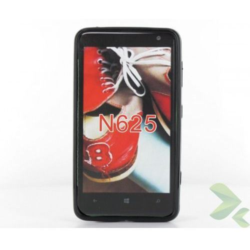 Geffy - Etui Nokia Lumia 625 TPU solid color black, kolor czarny