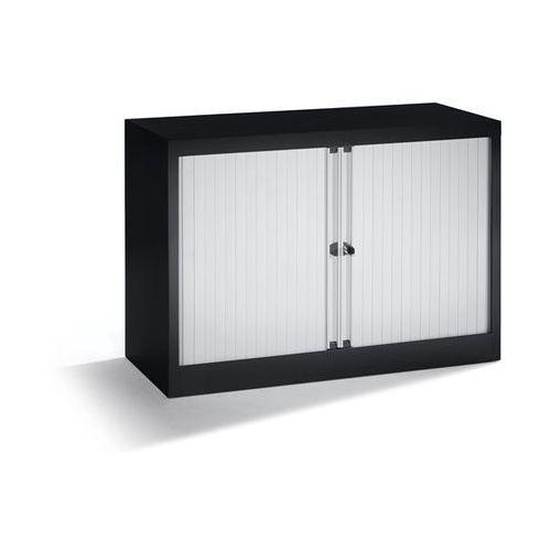 Bisley Szafka z roletami euro, szer. 1000 mm, 1 półka, czarny / jasnoszary. komplet z p