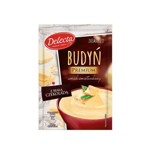 Delecta Budyń śmietankowy z białą czekoladą