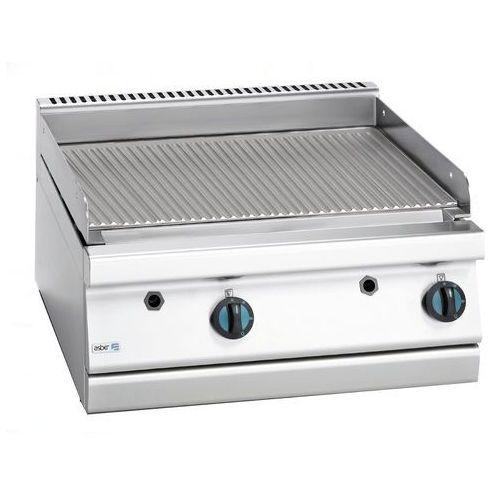Płyta grillowa gazowa ryflowana, gaz ziemny, 700x775x290 mm | , block cook 700 marki Asber