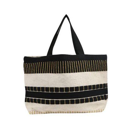 torba shopper 'cyane' jasny beż / czarny marki Pieces