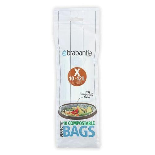 Worki na śmieci perfectfit bags biodegradowalne rozmiar x 10-12l 10 szt marki Brabantia