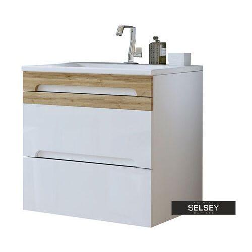 szafka pod umywalkę warner biała 60 cm marki Selsey