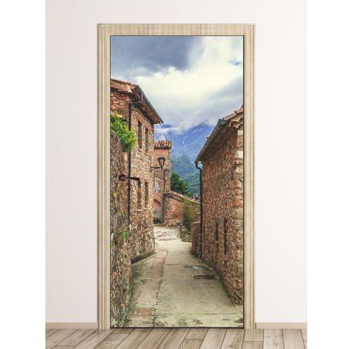 Fototapeta na drzwi uliczka starego miasta FP 6298