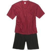 duża piżama męska krótki rękaw bordowa 251, Adamo