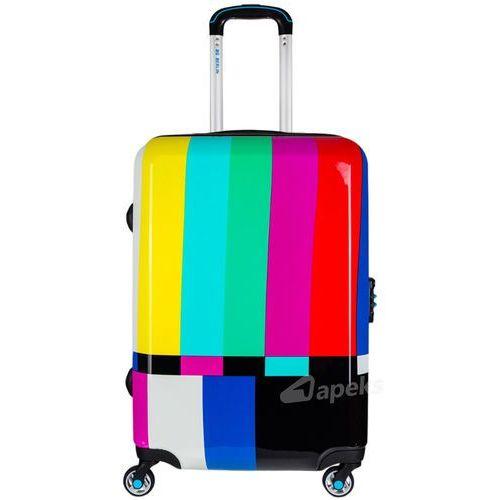 urbe średnia walizka na 4 kółkach / 67 cm / tv set - wielokolorowy marki Bg berlin