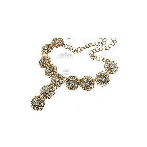 SWAROVSKI UNIKAT NASZYJNIK CRYSTAL FLOW GOLD - produkt z kategorii- biżuteria ślubna