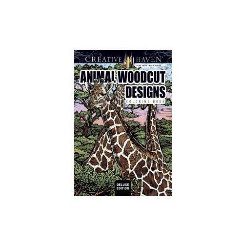 Creative Haven Deluxe Edition Animal Woodcut Designs Coloring Book