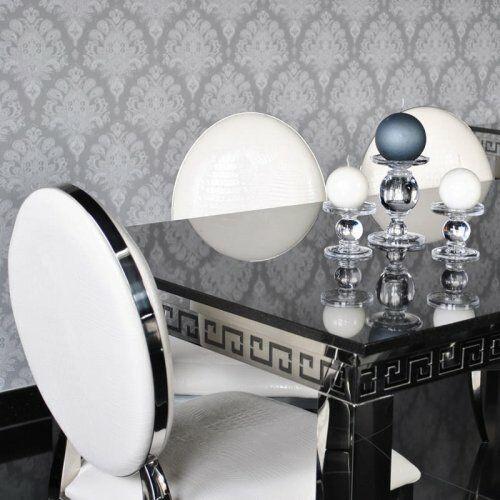 Stół glamour Verona - stal szlachetna blat kamienny nowoczesny (5908273390024)