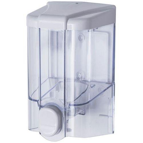 Faneco Dozownik do mydła w płynie 0,5 litra jet plastik przezroczysty (5901764291978)