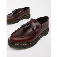 adrian tassel loafers in deep red - red, Dr martens