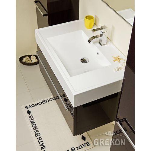 Szafka łazienkowa z umywalką 80/50 Fokus Gante Wenge Połysk