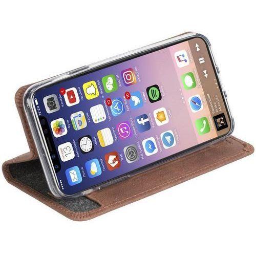 Krusell sunne 4 card foliowallet - skórzane etui iphone x z kieszeniami na karty + stand up (cognac) (7394090610984)