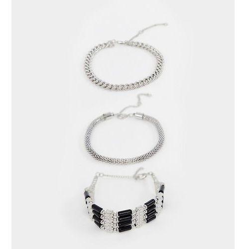Sacred Hawk 3 pack bracelet - Silver, kolor szary