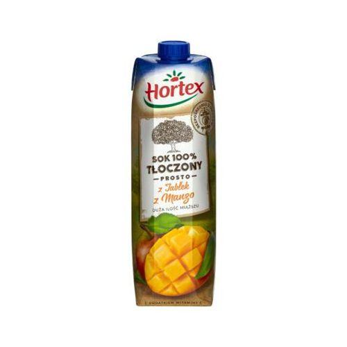 Hortex  1l sok 100% tłoczony prosto z jabłek z mango