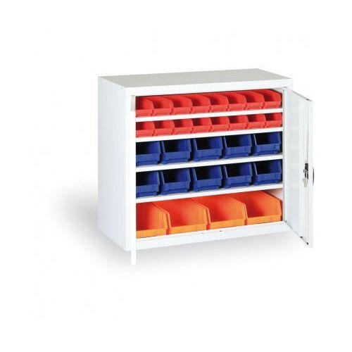 Szafa z plastikowymi pojemnikami - 800x920x400 mm, 24xa, 6x b, 4x c marki B2b partner