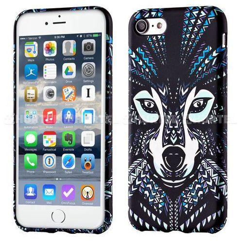 WOZINSKY fluorescencyjny pokrowiec świecący w ciemności Wild Case iPhone 7 wilk czarny - wilk (Futerał telefoniczny)