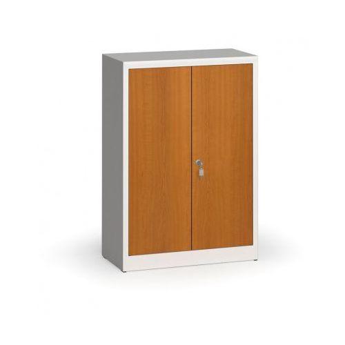 Alfa 3 Szafy spawane z laminowanymi drzwiami, 1150 x 800 x 400 mm, ral 7035/czereśnia