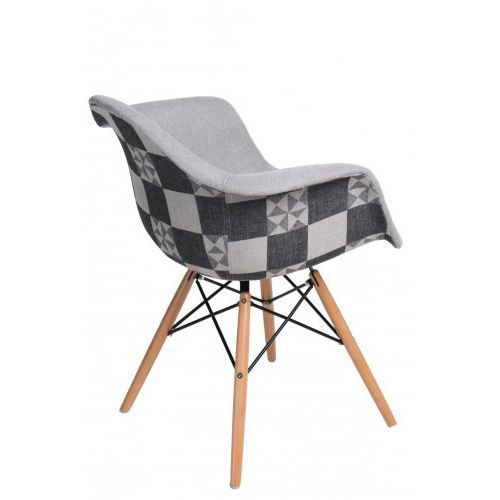 Krzesło P018W Pattern szare/patchwork, d2-5108
