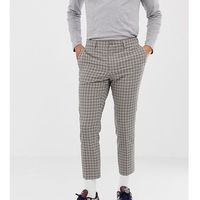 skinny cropped smart trouser in tattersall check - stone marki Noak