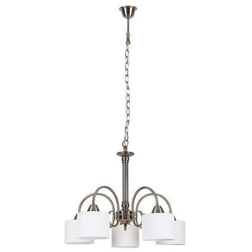 Lampa wisząca Rabalux Edith 7276 5x60W E27 brązowa/biała