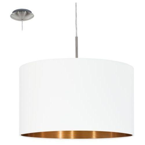lampa wisząca PASTERI biała/miedziana - 38 cm, EGLO 95044