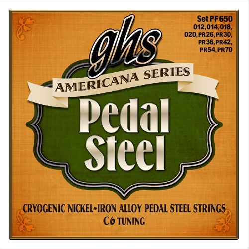 Ghs americana series ″ struny do pedal steel guitar, 10-strings, e6 tuning,.015-.070