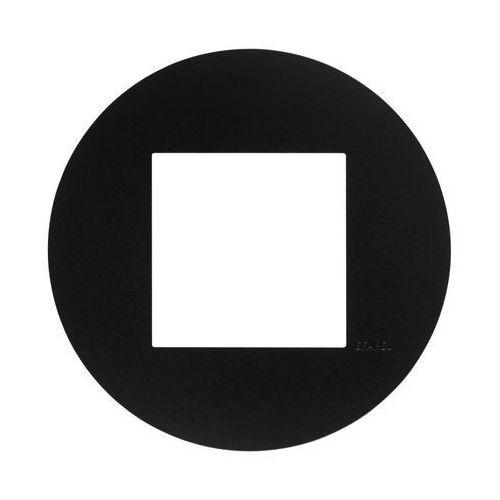 Ramka pojedyncza QUADRO Czarny EFAPEL, kolor czarny