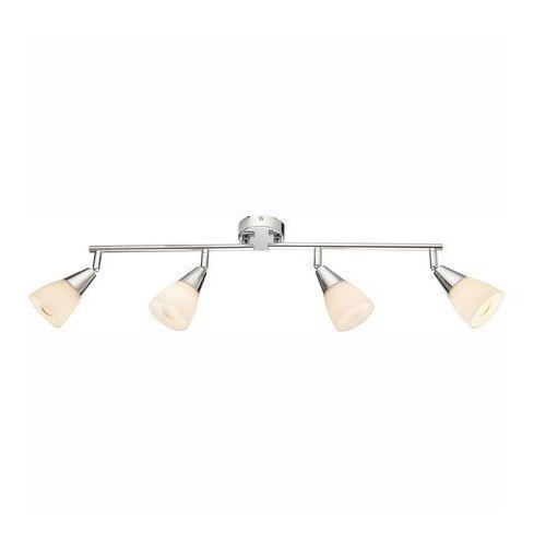 Lampa listwa oprawa sufitowa Globo Tadeus 4x40W E14 chrom, biała 54919-4 (9007371339433)
