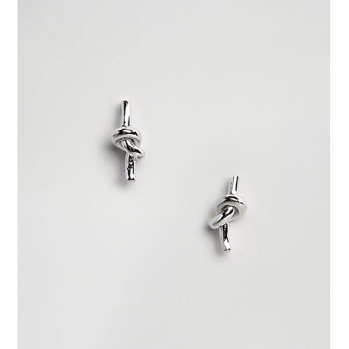Designb london sterling silver knot stud earrings - silver
