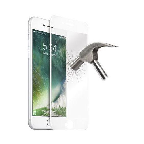 Puro premium full edge szkło hartowane 9h na cały ekran iphone 8 / 7 / 6s / 6 (biała ramka)