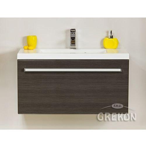 Grafitowa szafka wisząca z umywalką 80/39 seria fokus fino marki Gante