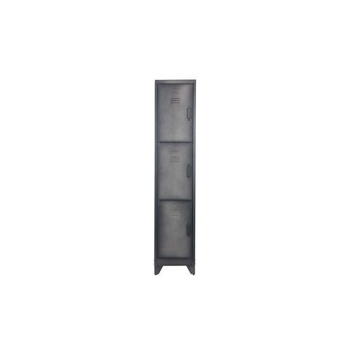 Woood Szafka zamykana 3-drzwiowa metalowa czarna 373562-Z (8714713069545)