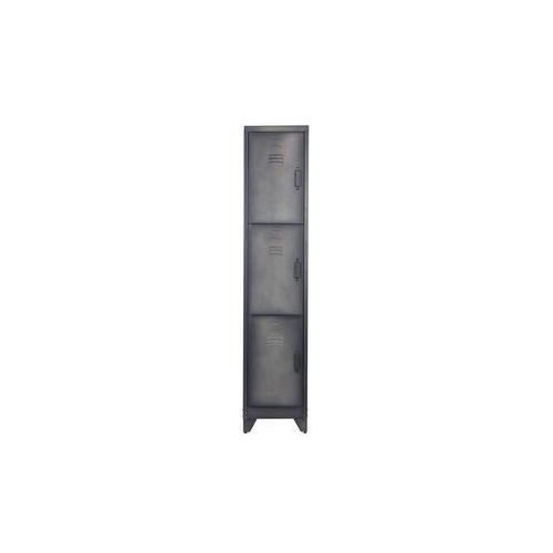 Woood Szafka zamykana 3-drzwiowa metalowa czarna 373562-Z