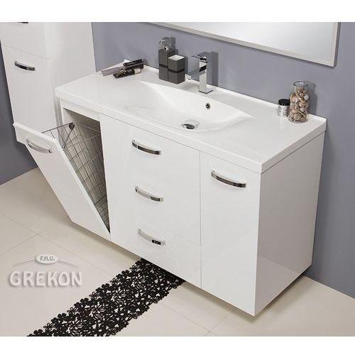 Biała szafka łazienkowa z umywalką 120/48/k jona marki Gante