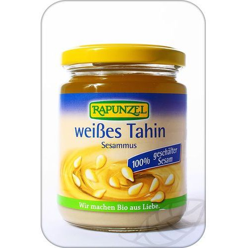 Rapunzel: tahina biała mus z sezamu łuszczonego BIO - 250 g (zdrowa żywność)
