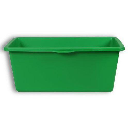 Niecka z tworzywa, poj. 90 l, 640x350 mm, zielony. z pe (polietylen). wym. zewnę marki Eurokraft