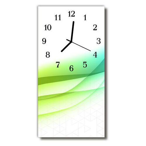 Zegar szklany pionowy sztuka grafika abstrakcja kolorowy marki Tulup.pl