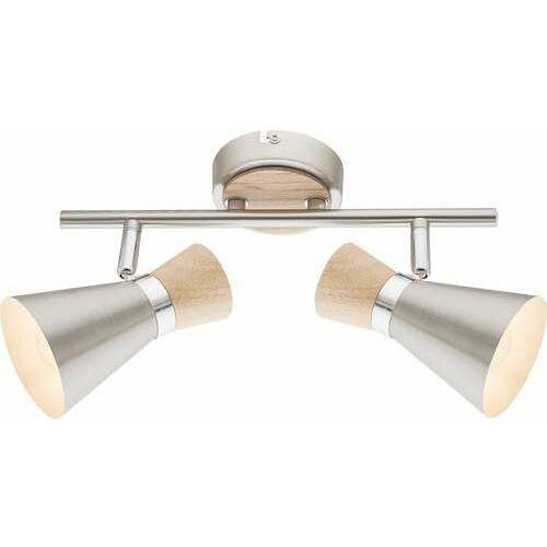 Listwa Globo Marei 54807-2 lampa sufitowa spot 2x25W E14 nikiel mat / brązowy (9007371362882)
