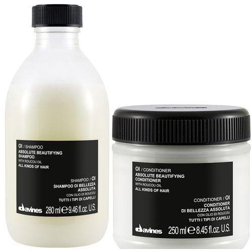 oi oil | zestaw do każdego rodzaju włosów: szampon 280ml + odżywka 250ml marki Davines