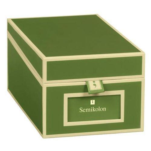 Semikolon Pudełko na wizytówki die kante ciemnozielone (4250540923376)