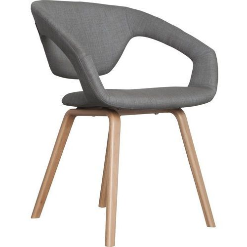 Zuiver :: krzesło flex back - natural/light grey - jasnoszary, brązowy