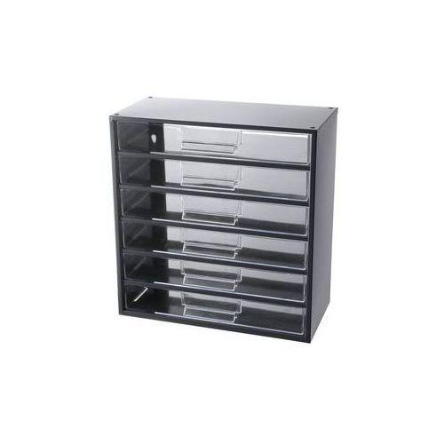 Magazyn z szufladami, wys. x szer. x głęb. 387 x 366 x 173 mm,6 szuflad polistyren