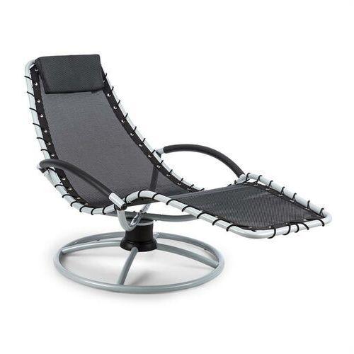 Blumfeldt the chiller leżak bujany 77 x 85 x 173 cm komfort 360 komfortowa siateczka czarny (4260509689311)