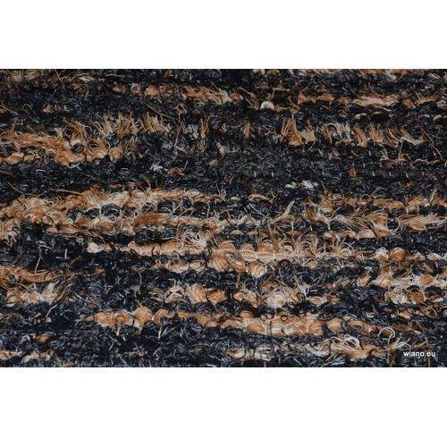 Twórczyni ludowa Chodnik bawełniany ręcznie tkany czarno-szary-brąz-ecu 65x150 cm