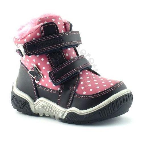 Buty zimowe dla dzieci firmy ah71 - różowy ||granatowy marki Apawwa
