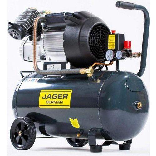 Sprężarka powietrza tłokowa kompresor tłokowy olejowy 2.2kw 50l v2 8bar 290l/min 230v mocna rzecz marki Jager german