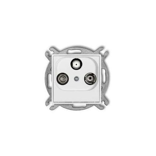 Gniazdo RTV-SAT Karlik Mini MGS końcowe 1,5dB biały, MGS