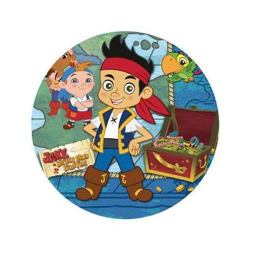 Dekoracyjny opłatek tortowy jake i piraci z nibylandii - 20 cm marki Smakop