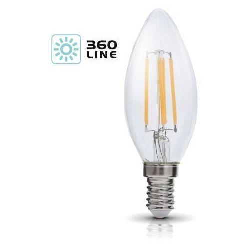 Żarówka LED E14 FSW 4W barwa CIEPŁOBIAŁA 5900605095751 - Kobi Light - Rabat w koszyku (5900605095751)